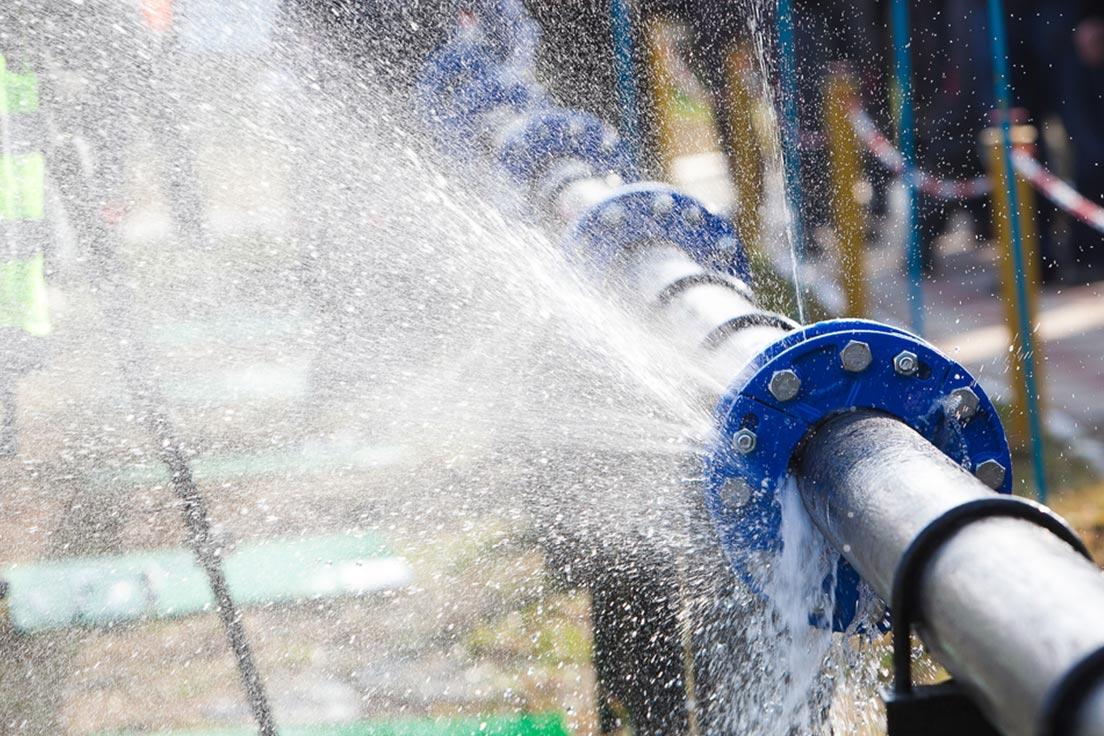 water pipeline leak