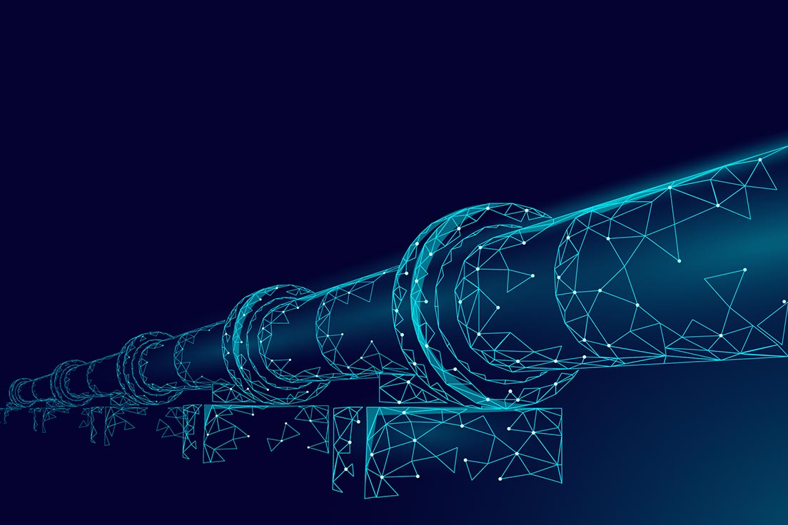 Hologram of an oil & gas pipeline