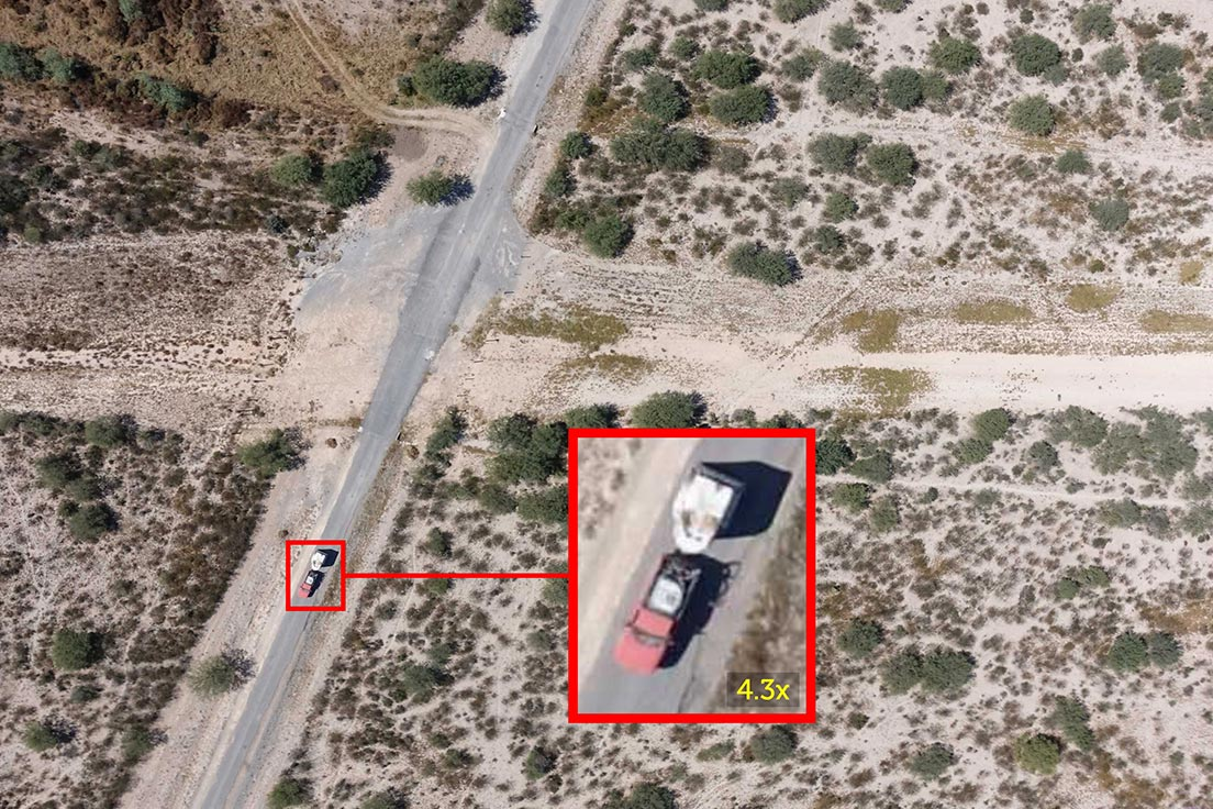 Truck detected on a pipeline right-of-way