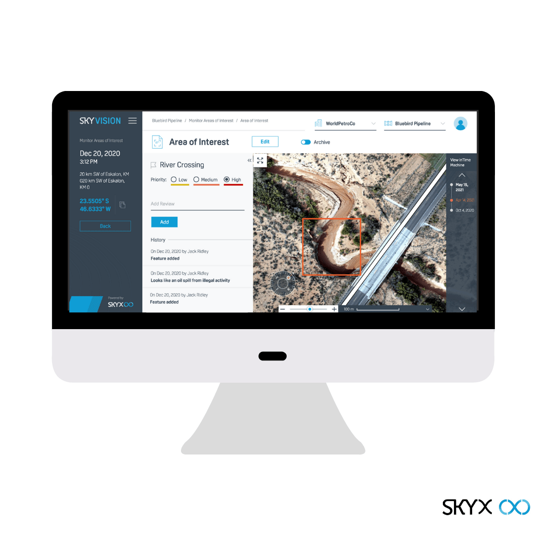 SkyVision 2.0, pipeline integrity, drone software, SkyX Systems